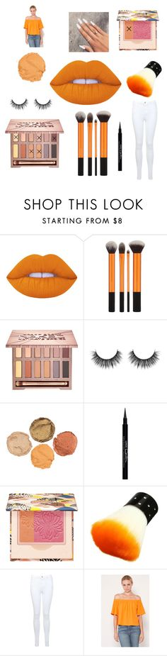 """Let's stick with orange 🍊😻"" by emmam11 ❤ liked on Polyvore featuring beauty, Lime Crime, Urban Decay, Givenchy, Paul & Joe, Miss Selfridge and Otis & Maclain"