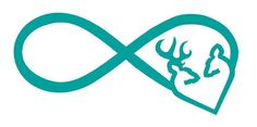 Infinity Symbol with Browning Style Heart Buck & Doe Vinyl Decal Car,Truck,Yeti Decals For Yeti Cups, Yeti Decals, Vinyl Decals, Car Decals, Browning Symbol, Browning Tattoo, Browning Deer, Buck Silhouette, Silhouette Cameo