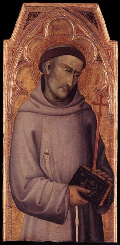 Andrea Vanni - San Francesco d'Assisi - 1355-1360 - Tempera su tavola -  Lindenau-Museum, Altenburg