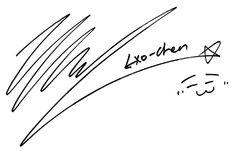 10 Gambar Tanda Tangan Terbaik Tanda Stiker Exo