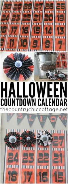 Make your own Halloween countdown calendar with these instructions.  A fun project for the kids!