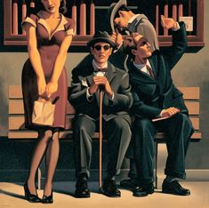 "Kenton Nelson - ""Such a Sight"" Three blind mice… ""She cut off their tails with a carving knife"""