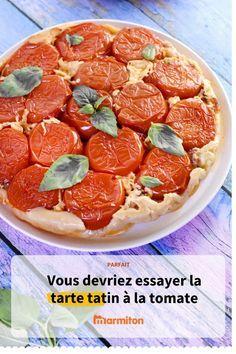 Tarte tatin à la tomate, une recette qui met en valeur les tomates pour un repas facile et délicieux #cuisine #recette #recettemarmiton #marmiton #legume #tarte #tartesalee #tartetatin #tatin #tomate #recettetomate