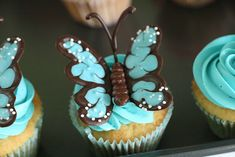 ❥ Butterfly cupcakes~ amazing!!!