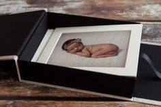 Portfolio print box with 10x8 mounted prints - Prints Products packages Newborn Photography