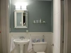 "Small Bathroom Paint Colors benjamin moore color""mount saint anne."" warm in winter and cool"