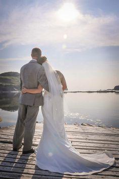 Nautical Wedding Photo #dock #ocean