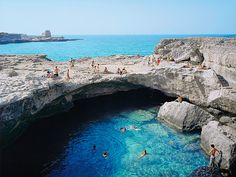 Places to See Before You Die - Google+‎ - Gorgeous Natural Swimming Holes ADRIATIC SEA Roca Vecchia,…