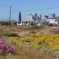 Old Lighthouse and Dungeness Nuclear Power Station.