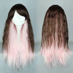 FREE P&P>>>>>Curly Corn Perm Fluffy Body Wave Cosplay WigOmbre Brown Pink Long Synthetic HaiR     #http://www.jennisonbeautysupply.com/    http://www.jennisonbeautysupply.com/products/free-ppcurly-corn-perm-fluffy-body-wave-cosplay-wigombre-brown-pink-long-synthetic-hair/,       Specification:   * The cap size is adjustable and no pins or tape should be required. It should be fit on most people. All you should need to do is adjust the hooks inside the cap to the correct size to suit your…