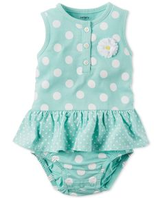 6e9ef654f Carter's Baby Girls' Dot & Daisy Romper & Reviews - All Baby - Kids - Macy's