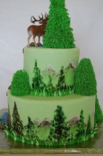 CakeFilley: Mountain/Elk Cake