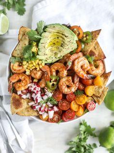 Tequila Shrimp Taco Salad. - How Sweet Eats...