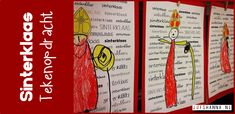 Deze tekenopdracht heb ik met mijn kleuters (groep 1) uitgevoerd. Eerst hebben we besproken hoe Sinterklaas eruit ziet. Ze mochten ook pieten, het paard van Sinterklaasof de stoomboot tekenen. De kinderen waren hier vrij in, zolang het maar in het Sinterklaas thema paste. Het tekenen gebeurde met Wasco. De resultaten zijn erg leuk geworden. 2017: … School, Books, Kale, Collard Greens, Libros, Book, Schools, Book Illustrations, Libri