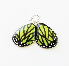 Polymer Clay Butterfly Wing Earrings by PiperPixe on #Zibbet $15