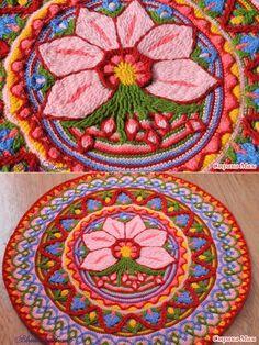 Цветочный коврик - Вязание - Страна Мам