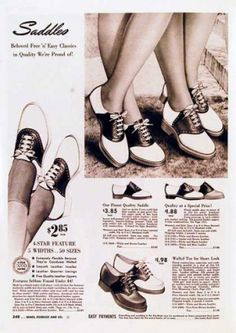 1940s black and white shoes