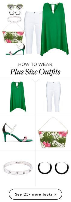 """Plus set"" by kneesaasmom on Polyvore featuring Ciso, River Island, Sandro, Miu Miu and Cartier"