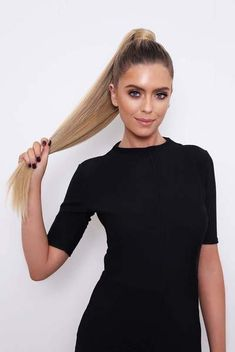 Introducing our Grande Lengths Straight Wraparound Ponytail, also known as the 'hair swish you've been waiting for your entire life'. Afro Ponytail, High Ponytail Hairstyles, Clip In Ponytail, Straight Ponytail, High Ponytails, Straight Hairstyles, Ponytail Hair Extensions, Ponytail Extension, Synthetic Hair Extensions