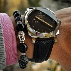 Instagram media The Zorrata black thunder buddha perfectly paired with the Panerai Radiomir. Bracelet exclusively from @zorrata Shop at www.sleeveclub.com FREE worldwide shipping on all orders. Follow @zorrata @zorrata @zorrata