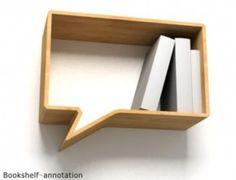 Comic Shelves by Oscar Nunez for Fusca Design (via Fresh Home), vs… … Bookshelf Annotation by Lau Design (via Inspire Me Now). A Shelf, Wall Shelves, Shelving, Book Shelves, Deco Design, Wood Design, Design Blog, Design Design, Interior Design