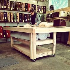 work table by Adam Tablemaker