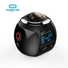 V1 4 K 360 Action Máy Ảnh Wifi Mini Máy Ảnh Toàn Cảnh 2448*2448 Ultra HD Panorama Máy Ảnh 360 Bằng Thể Thao lái xe VR Máy Ảnh