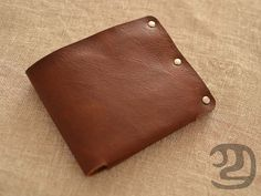 Mens Leather Wallet handmade wallet vintage Slim by Yesterwish