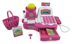 Pink Supermarket Cash Register with Checkout Scanner, Weight Scale, Microphone, Calculator, Play Money and Food Shopping Playset for kids Liberty Imports http://www.amazon.com/dp/B0063JJ1MA/ref=cm_sw_r_pi_dp_wrgTvb061ZKCG