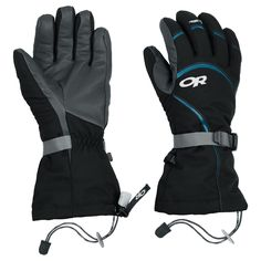 Outdoor Research - Women's High Camp Gloves These are a comparably cheap option but still have the pocket space for heat packs if they aren't warm enough