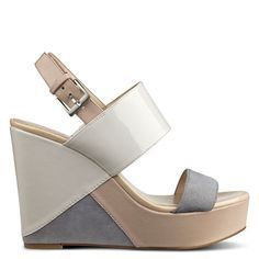 Dreamz Platform Wedge Sandals | Spring Trends | Spring Fashion | Modern Ballet | Color Block | Nine West