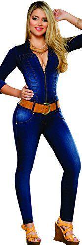 Aranza Women's Push Up Butt Lifting Stretch Jeans Levantacola Enterizo Colombianos