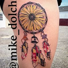This Maryland tattoo artist is amazing! Love this spin on a dream catcher!