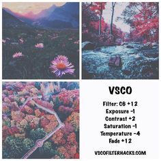 camera effects,photo filters,camera settings,photo editing Vsco Photography, Photography Filters, Photography Editing, Sfs Instagram, Nature Instagram, Vsco Hacks, Best Vsco Filters, Vsco Themes, Photo Editing Vsco