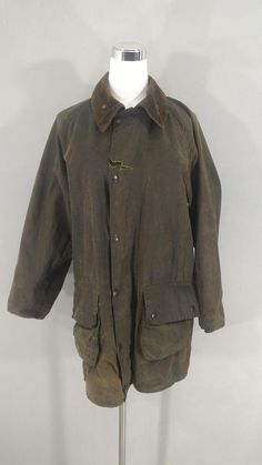 9e6f474d635f SALE! BARBOUR Gamefair Vintage Waxed Jacket Ripped Torn Distressed Worn  Barbour Wax Coat Barbour Gre