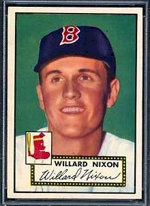 """""""1952 Topps Baseball Cards, Page 45"""" William Nixon"""