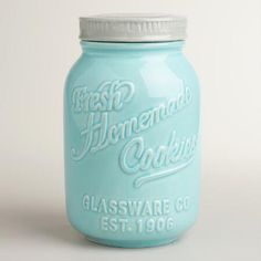 Mason Jar Ceramic Cookie Jar | World Market