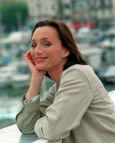 Kristin Scott Thomas at the Cannes Film Festival, 1996