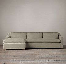 Preconfigured Belgian Classic Slope Arm Upholstered Left-Arm Chaise Sectional