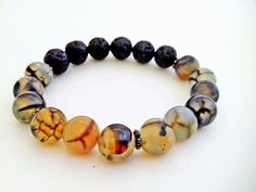 Fire Crackled Agate and Lava – LavHa