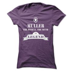 [New tshirt name meaning] MULLER the woman the myth the legend Shirts Today Hoodies, Funny Tee Shirts