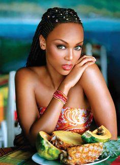 Tyra Banks beautiful face