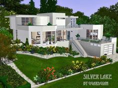 Found in TSR Category 'Sims 3 Residential Lots' Sims 4 Modern House, Sims 4 House Design, Los Sims 4 Mods, Modern Castle, Sims 4 House Plans, Casas The Sims 4, Sims Building, Futuristic Home, Dream Mansion