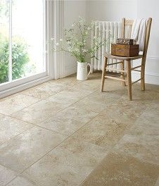 Travertine Filled Honed Floor Tile (40x61cm)