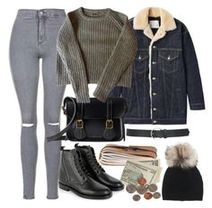 """""""Untitled #5270"""" by rachellouisewilliamson ❤ liked on Polyvore featuring Topshop, R13, Dr. Martens, Yves Saint Laurent, Inverni and M&Co"""