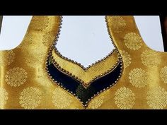 Simple and Beautiful Bridal Blouse Back Neck Design Cutting and Stitching Latest Blouse Neck Designs, Kids Blouse Designs, Saree Blouse Neck Designs, Simple Blouse Designs, Stylish Blouse Design, Dress Neck Designs, Design Of Blouse, Hand Designs, Blouse Neck Patterns