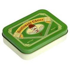 Boîte métallique verte