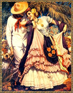 Jesús Helguera (May 1910 – December was a Mexican painter… Mexican Artwork, Mexican Folk Art, Mexican Style, Mexican Paintings, Spanish Woman, Spanish Art, Spanish Ladies, Spanish Dancer, Spanish Style