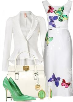 """Very pretty, but without the jewelry (for my taste) """"Dreaming of sunshine :)"""" by leilani-almazan ❤ liked on Polyvore"""