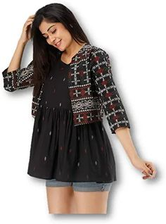 Half Sleeves, Types Of Sleeves, Sleeveless Tunic Tops, Thing 1, Black Shorts, Womens Fashion, Cotton, Jackets, Clothes